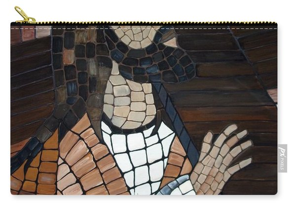 Carry-all Pouch featuring the painting The Cross by Cynthia Amaral