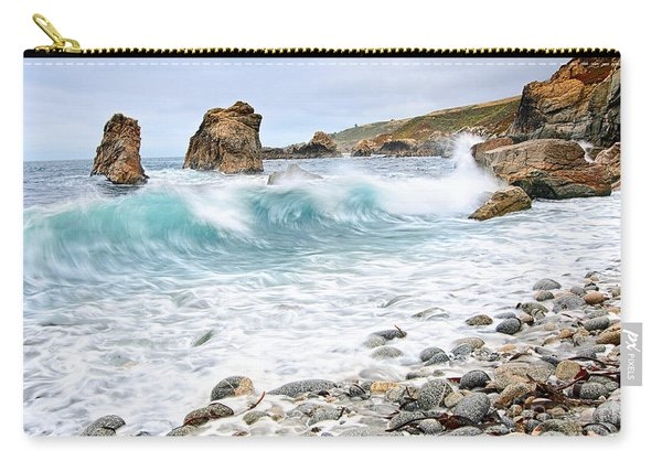 The Curl - Crashing Waves From Soberanes Point In Garrapata State Park Carry-all Pouch