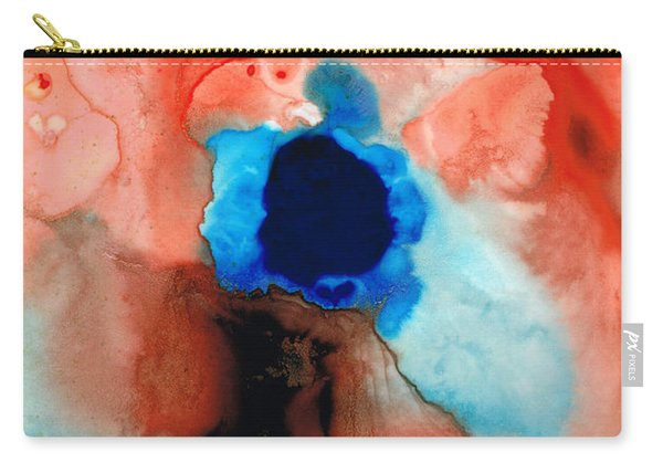 The Dancer - Abstract Red And Blue Art By Sharon Cummings Carry-all Pouch