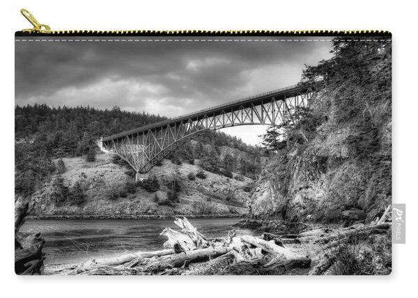 The Deception Pass Bridge II Bw Carry-all Pouch