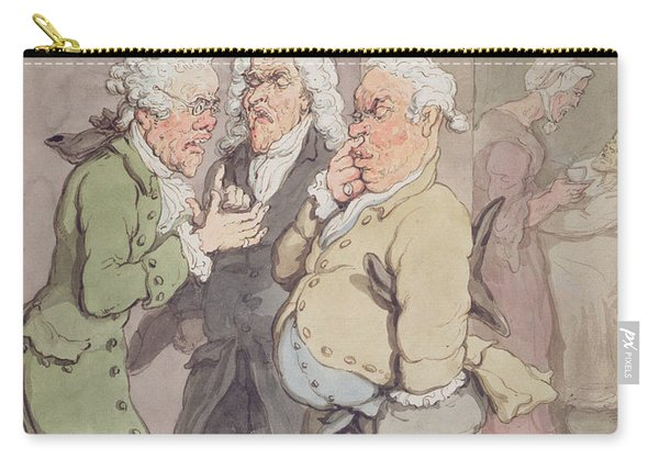 The Doctors Consultation, 1815-1820 Pen And Ink And Wc Over Graphite On Paper Carry-all Pouch