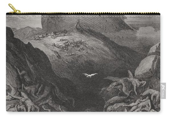 The Dove Sent Forth From The Ark, Genesis 138-9, Illustration From Dores The Holy Bible, 1866 Carry-all Pouch