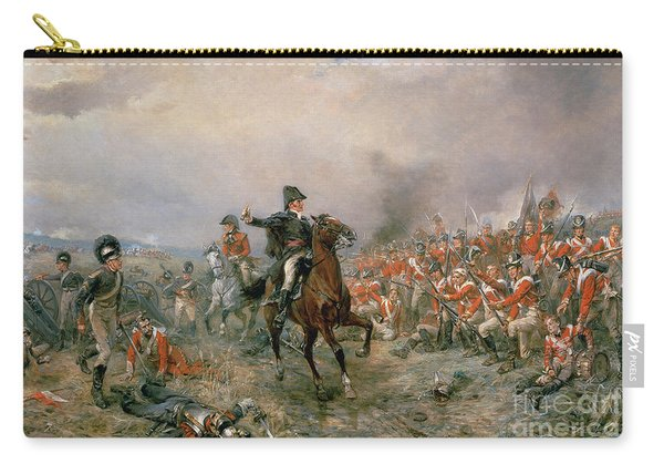 The Duke Of Wellington At Waterloo Carry-all Pouch