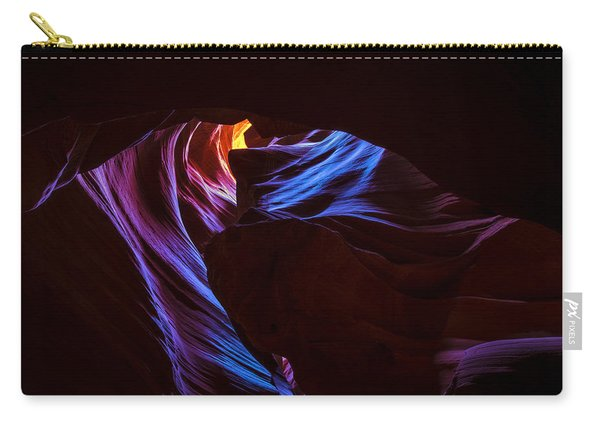 Carry-all Pouch featuring the photograph The Edge Of Darkness by Dustin  LeFevre