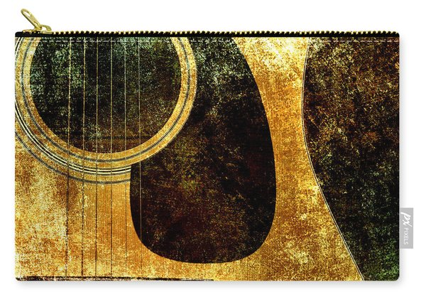 The Edgy Abstract Guitar Square Carry-all Pouch