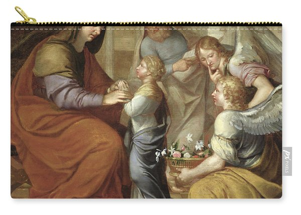 The Education Of The Virgin, 1658 Oil On Canvas Carry-all Pouch