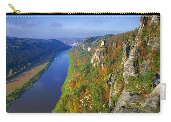 The Elbe Sandstone Mountains Along The Elbe River Carry-all Pouch