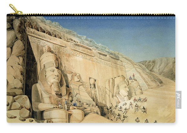 The Excavation Of The Great Temple Of Ramesses II Carry-all Pouch