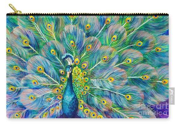 Carry-all Pouch featuring the painting The Eyes Have It by Nancy Cupp