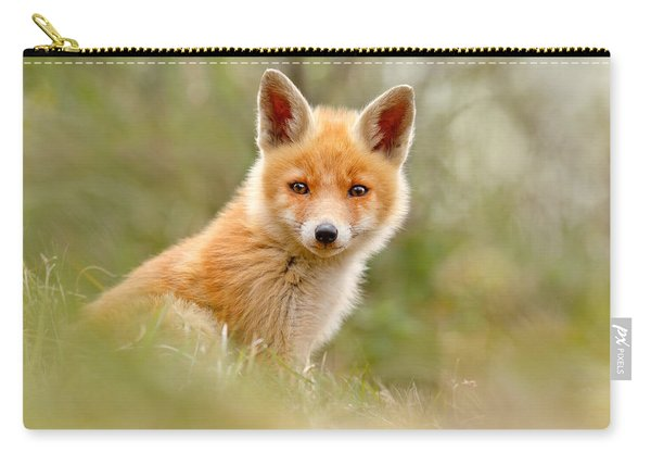 The Face Of Innocence _ Red Fox Kit Carry-all Pouch