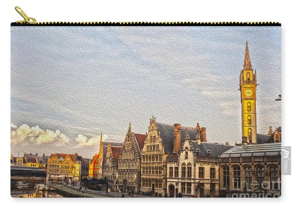 The Famous Graslei In Ghent At Sunset Carry-all Pouch