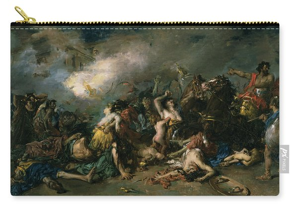 The Final Day Of Sagunto In 219bc, 1869 Oil On Canvas Carry-all Pouch