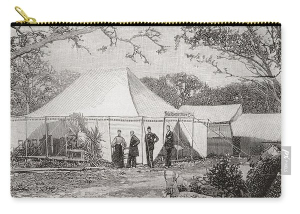 The First Presbyterian Church, Miami, Florida, United States Of America In The Late 19th Century Carry-all Pouch