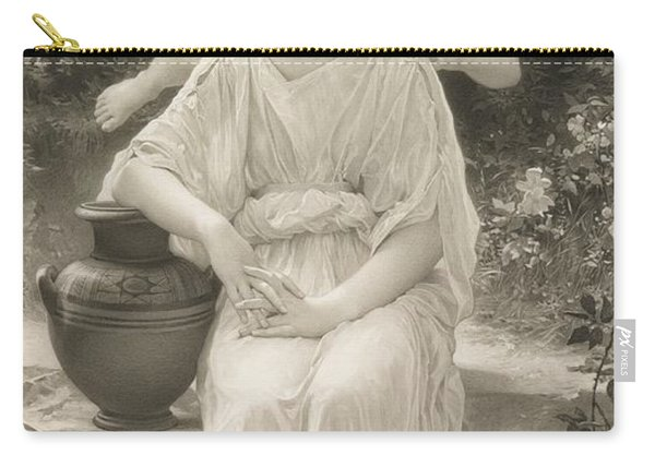 The First Whisper Of Love After Bouguereau Carry-all Pouch