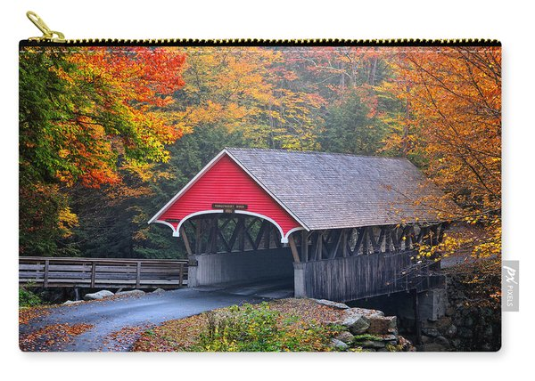 The Flume Covered Bridge Carry-all Pouch