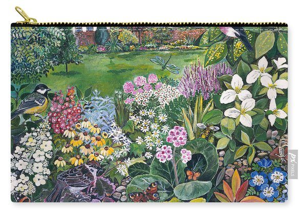 The Garden With Birds And Butterflies Carry-all Pouch