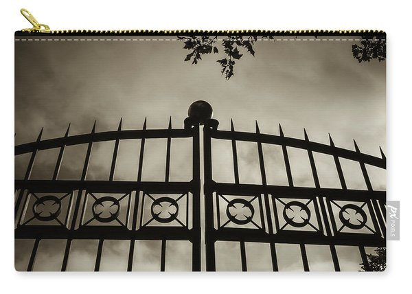 The Gate In Sepia Carry-all Pouch