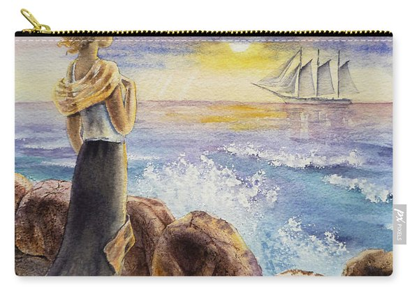 The Girl And The Ocean Carry-all Pouch