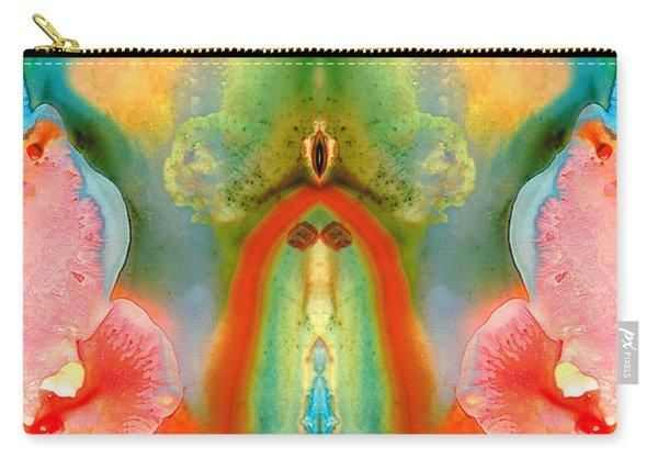 The Goddess - Abstract Art By Sharon Cummings Carry-all Pouch