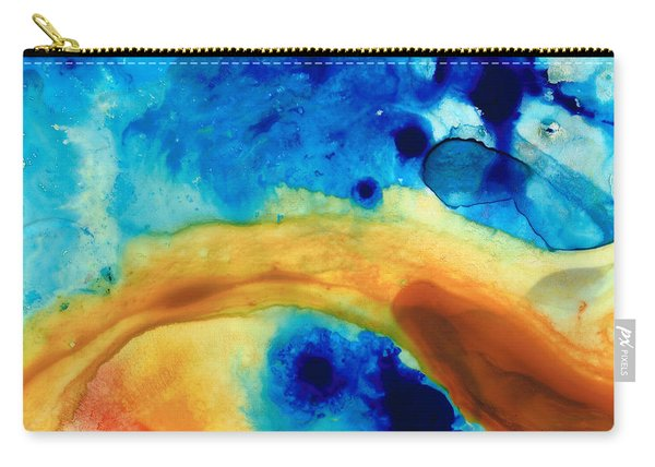The Golden Gate - Abstract Art By Sharon Cummings Carry-all Pouch