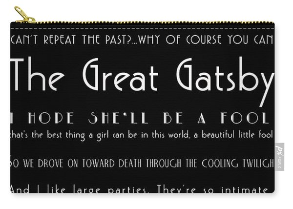 The Great Gatsby Quotes Carry-all Pouch