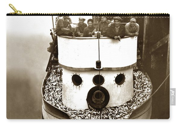 The Happy Crew Of The Fishing Boat  Geraldine- Ann Monterey California 1939 Carry-all Pouch
