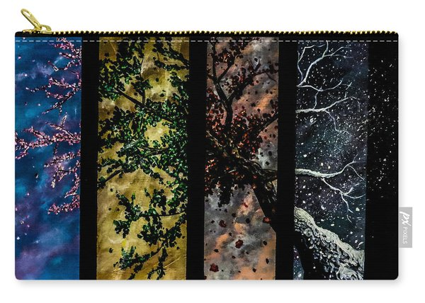 Carry-all Pouch featuring the painting The Journey by Joel Tesch