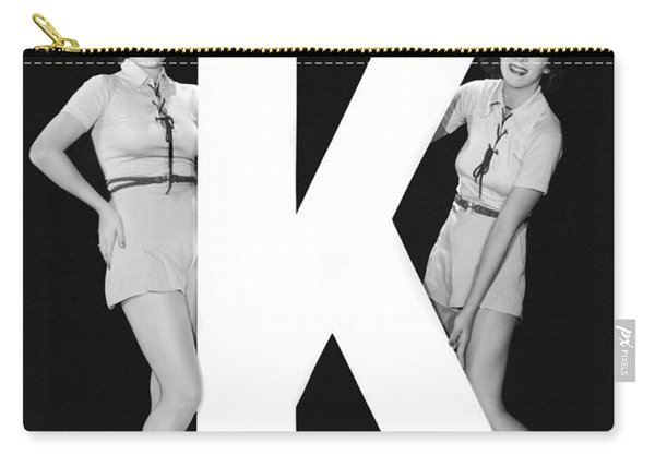 The Letter k  And Two Women Carry-all Pouch