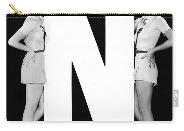 The Letter n  And Two Women Carry-all Pouch
