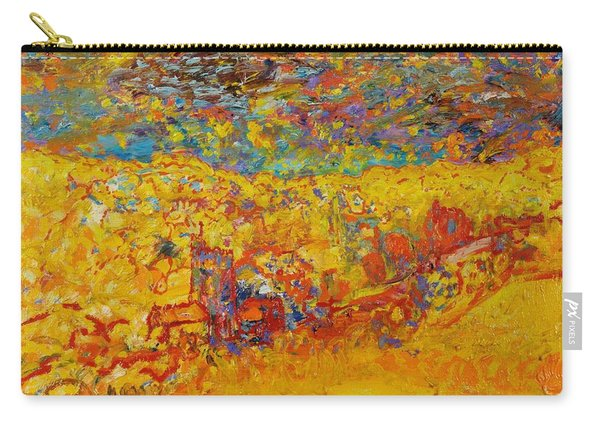 The Little Red Church Oil On Canvas Carry-all Pouch
