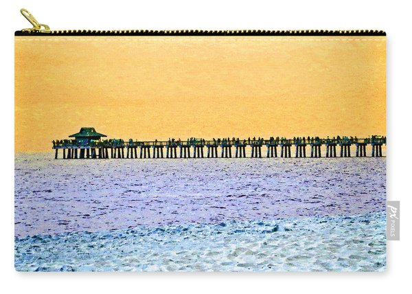 The Long Pier - Art By Sharon Cummings Carry-all Pouch