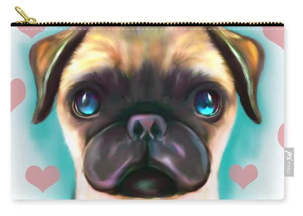 The Love Pug Carry-all Pouch