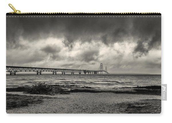 The Mackinac Bridge B W Carry-all Pouch