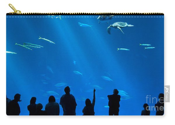 The Magnificent Open Sea Exhibit At The Monterey Bay Aquarium. Carry-all Pouch