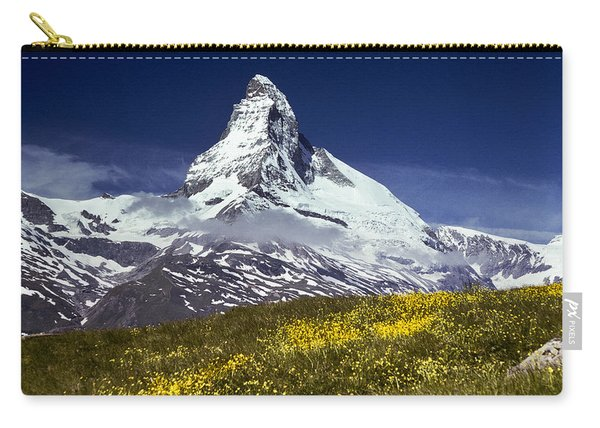 The Matterhorn With Alpine Meadow In Foreground Carry-all Pouch
