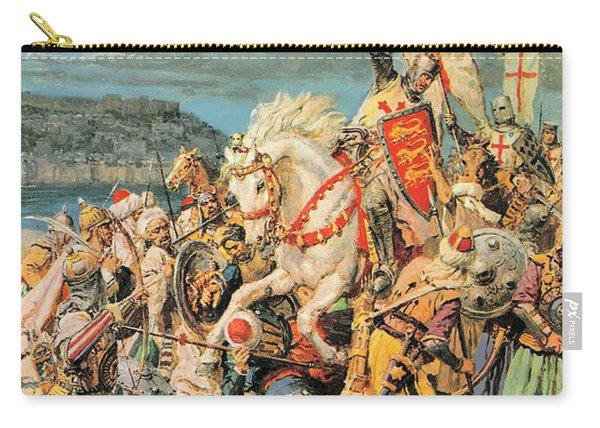 The Mighty King Of Chivalry Richard The Lionheart Carry-all Pouch