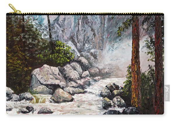 The Mist At Bridalveil Falls Carry-all Pouch