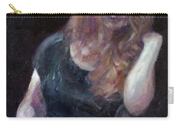 The Offering - Sale On Original Painting - Framed  Carry-all Pouch