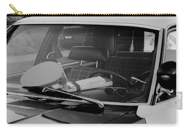 Carry-all Pouch featuring the photograph The Office On Wheels by Jim Thompson
