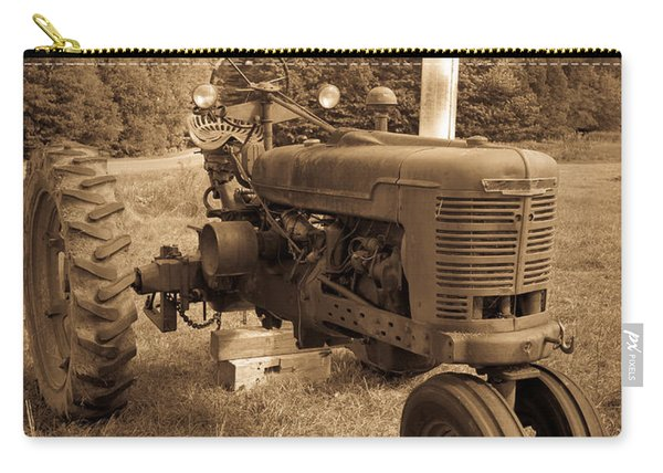 The Old Tractor Sepia Carry-all Pouch