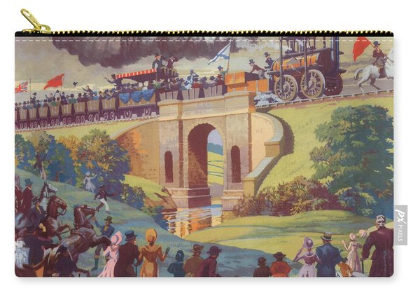 The Opening Of The Stockton And Darlington Railway Macmillan Poster Carry-all Pouch