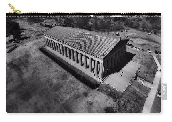 The Parthenon In Black And White Carry-all Pouch