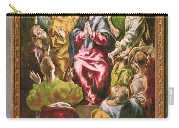 The Pentecost, C.1604-14 Oil On Canvas Carry-all Pouch