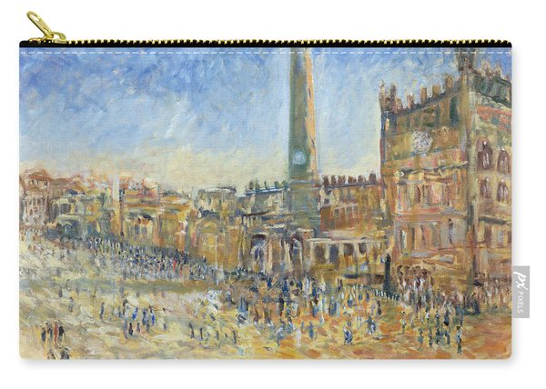 The Piazza In Siena, 1995 Oil On Canvas Carry-all Pouch