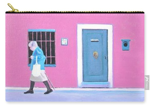 The Pink House With Green Shutters Carry-all Pouch