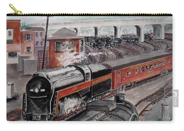 The Powhatan Arrow Roars Through The Yards Into Portmouth Carry-all Pouch