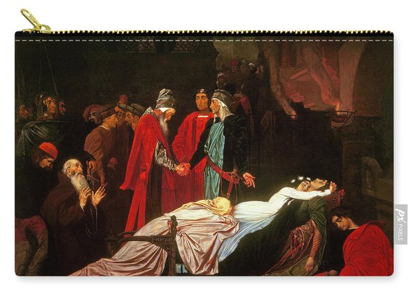 The Reconciliation Of The Montagues And The Capulets Over The Dead Bodies Of Romeo And Juliet Oil Carry-all Pouch