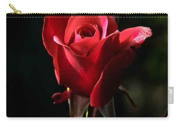 The Red Rode Bud Carry-all Pouch