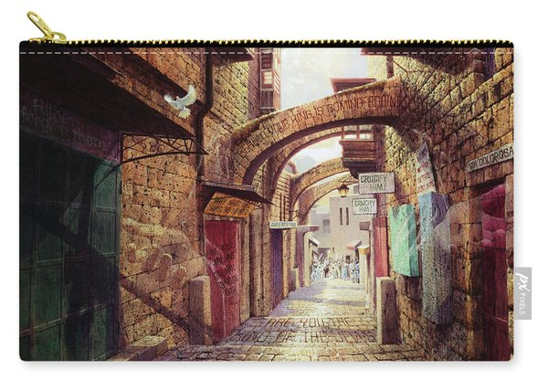 The Road To The Cross  Jerusalem Carry-all Pouch