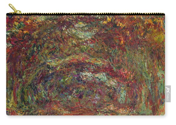 The Rose Path, Giverny, 1920-22 Oil On Canvas Carry-all Pouch